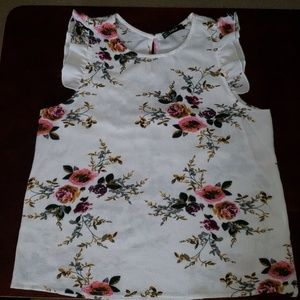 Shein floral sleeveless shirt